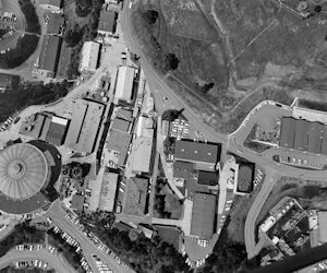 Photo courtesy of Berkeley Lab Aerial view of Omnitron site and Old Town.